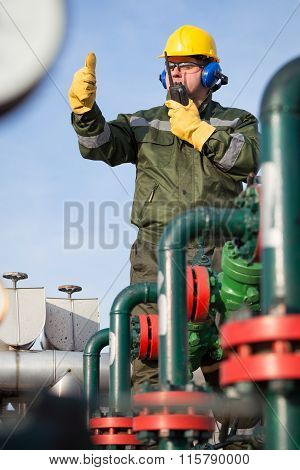 Engineer in the oil and natural gas field