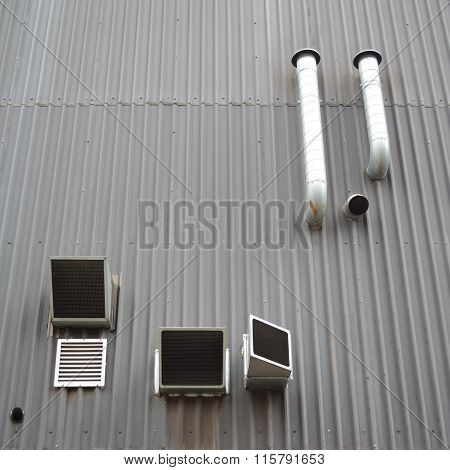 Detail of industrial building