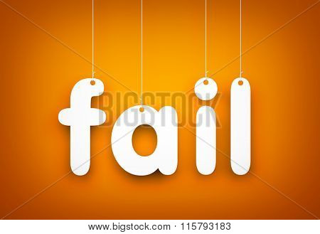 Fail - word hanging on the rope