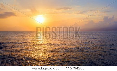 Sunrise And Sea