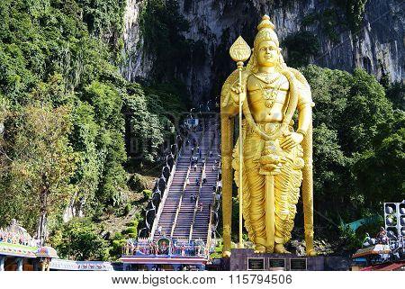 Kuala Lumpur, Malaysia - December 11, 2014: Batu Caves