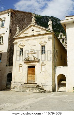 Perast, Montenegro - July 08, 2014: St. Mark's Church