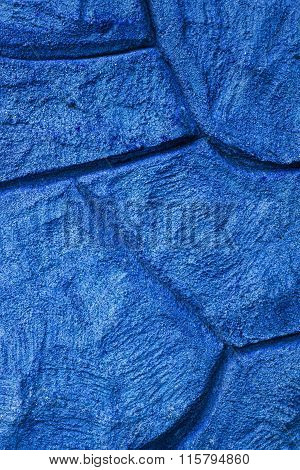 Imaginative Blue Stone / Concrete / Rock Background Texture, With Curvy Patterns.