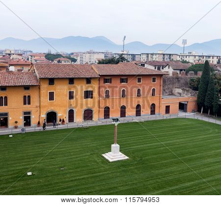 Lawn Of The Bell Tower Pisa Italy