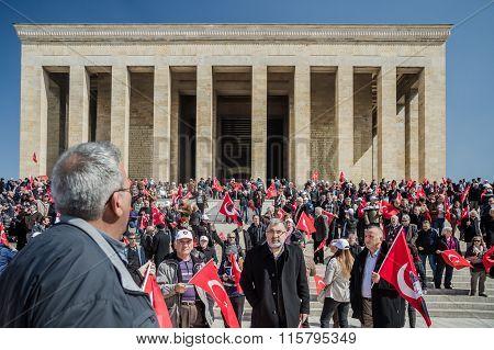 Anitkabir, Mausoleum Of Mustafa Kemal Ataturk, The Founder Of The Republic Of Turkey