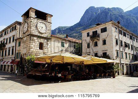 Kotor, Montenegro - July 07, 2014: Clock Tower