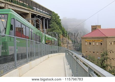 Montserrat, Spain - August 28, 2012: The Station