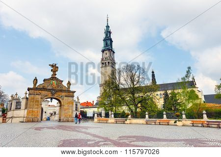 Czestochowa, Poland, 29 April 2015: Jasna Gora Sanctuary In Czestochowa, Poland. Very Important And