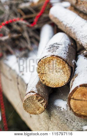 Firewood Under The Snow