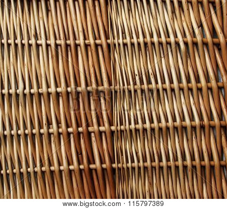 Natural Wood / Woven Wicker Background Texture.