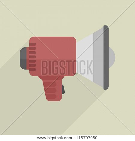 minimalistic illustration of a loudspeaker, eps10 vector
