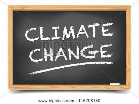detailed illustration of a blackboard with Climate Change text, eps10 vector, gradient mesh included