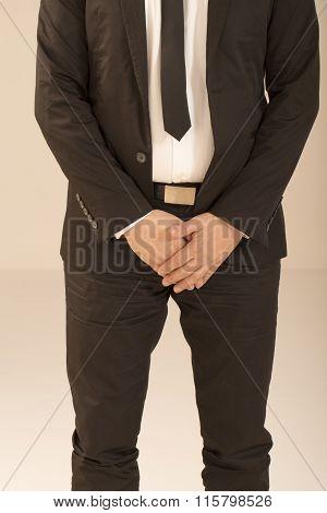 Business man in dark suit