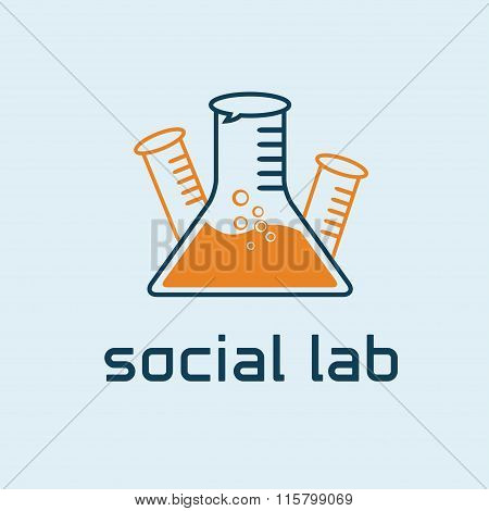 Social Lab Concept Vector Design Template