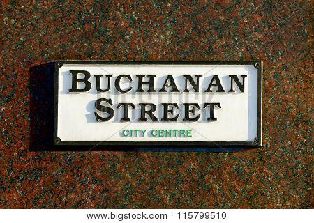 Buchanan Street Sign