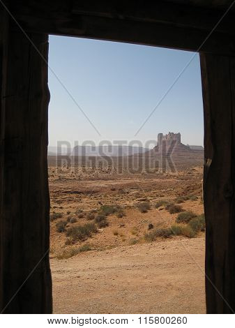 Door to Monument Valley (Navajo Nation, USA)