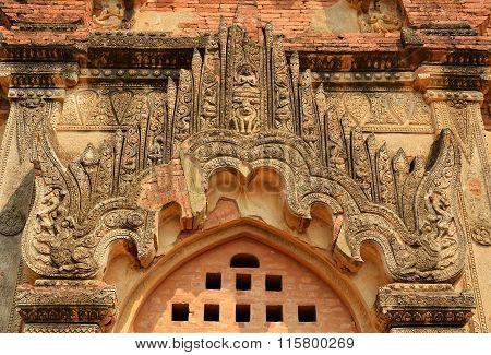 Ancient Gate In Bagan Temple, Myanmar