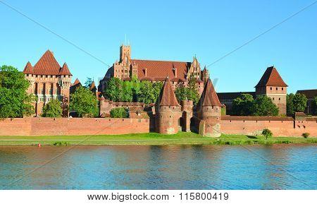 Malbork Knights Castle In Poland (world Hritage List Unesco)