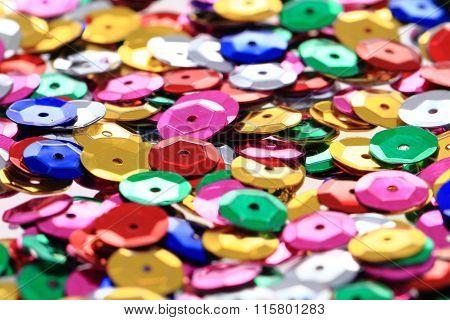 Color Metal Confetti Texture