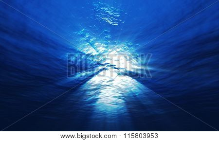 Light Underwater At A Depth