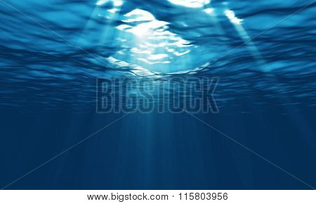 Light Underwater In A Lagoon