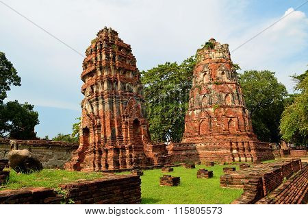 Two Buddhist Prangs (Ayutthaya, Thailand)