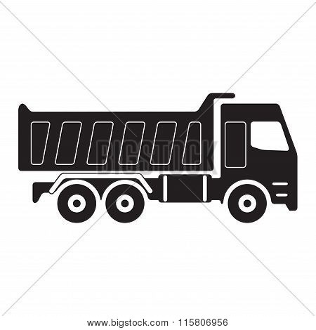Truck icon. Dump truck. Vector Illustration.