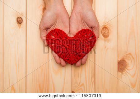 Symbol Of Valentine's Day - Heart In Hands