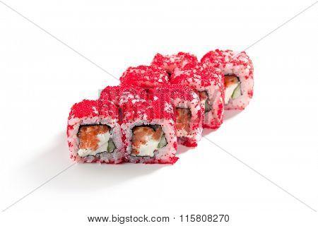 Salmon and Tobiko Roll