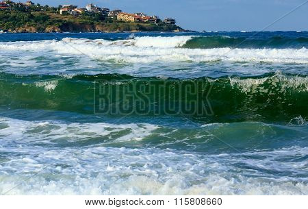 Sea View From Beach.