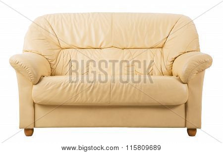 Sofa, Leather Couch Front View
