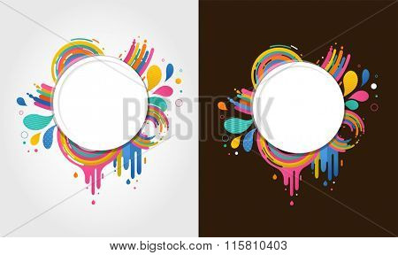 abstract colorful backgrounds with text space