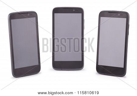 Three Smart Phone (six Clipping Path)