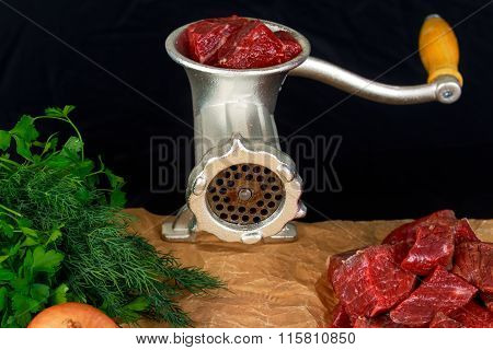 Mincer make fresh beef minced meat