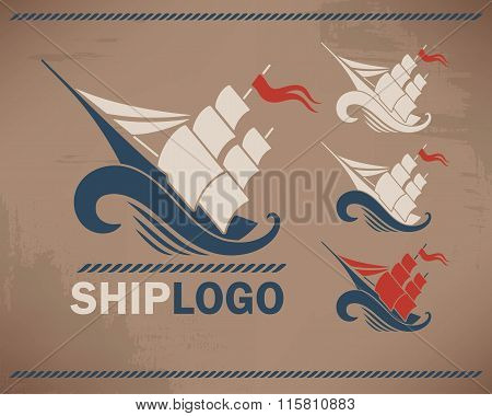 Ship on the wave