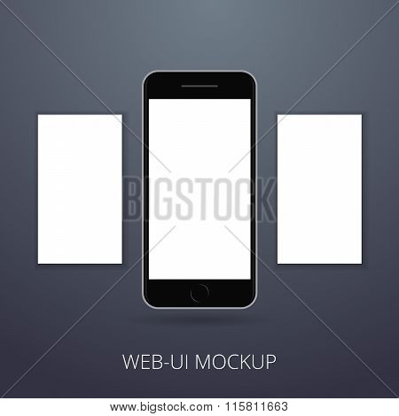 Latest mobile phone mockup for your design or web interface