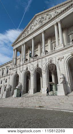 Portuguese Parliament Building, Palacio Da Asembleia Da Republica, Lisbon, Portugal. Side