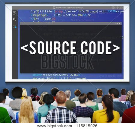 Source Code Data Javascript Computer Language Concept