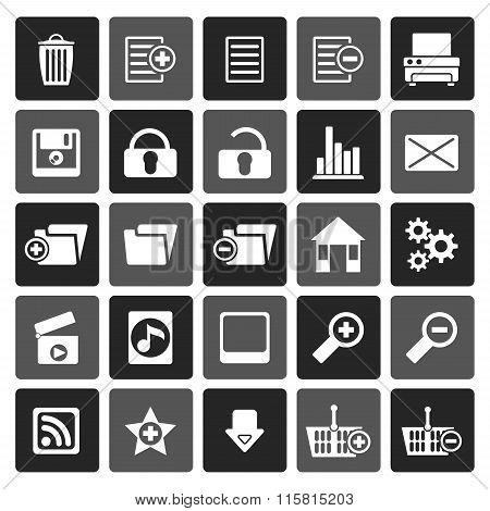 Flat 25 Detailed Internet Icons