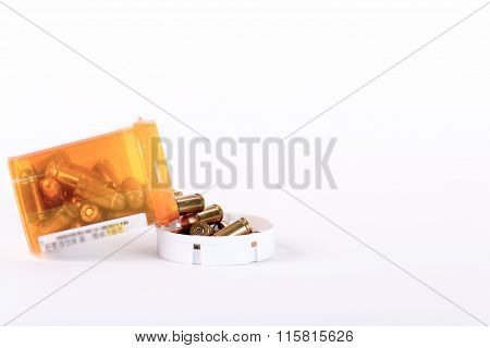 Bullets Poured Out Of A Pill Bottle