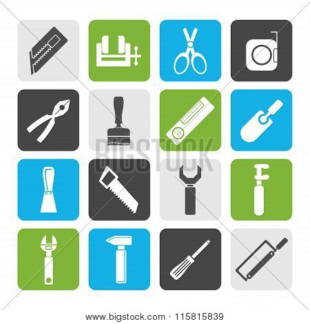 Flat Building and Construction Tools icons