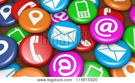 Contact Us Web Icons On Badges