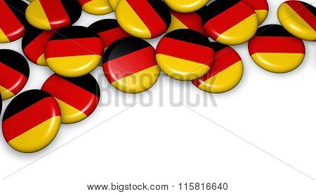 Germany Flag On Buttons Badges