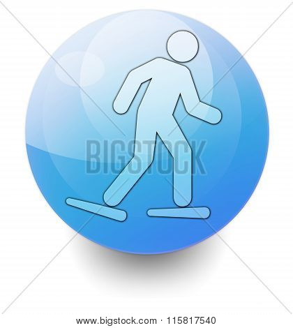 Icon, Button, Pictogram Snowshoeing