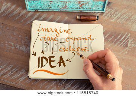 Business Acronym Idea Imagine Dare Expand Achieve