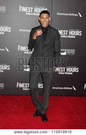 LOS ANGELES - JAN 25:  Keiynan Lonsdale at the The Finest Hours World Premiere at the TCL Chinese Theater IMAX on January 25, 2016 in Los Angeles, CA