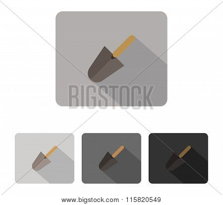 icon trowel colored and illustrated in flat design