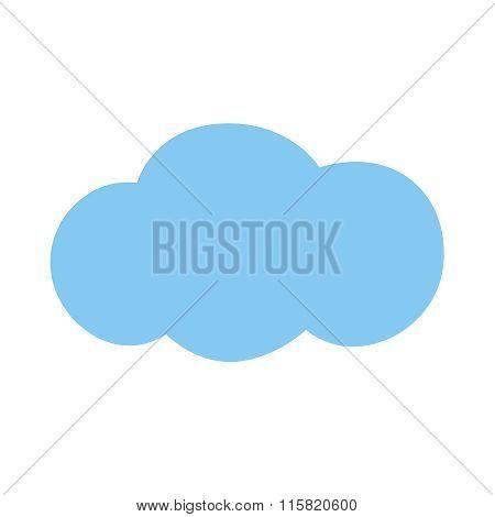 Icon Blue Cloud.