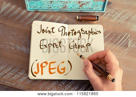 Acronym Jpeg Joint Photographics Expert Group