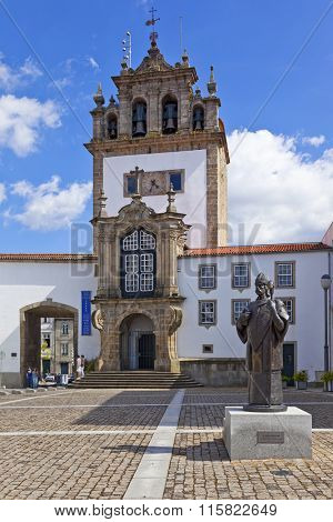 Braga, Portugal - July 27, 2015: Nossa Senhora da Torre chapel, a landmark of the city. 18th century religious architecture.